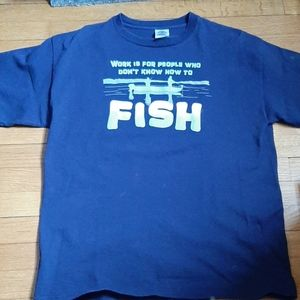 Fishing Grsphic Tee Shirt